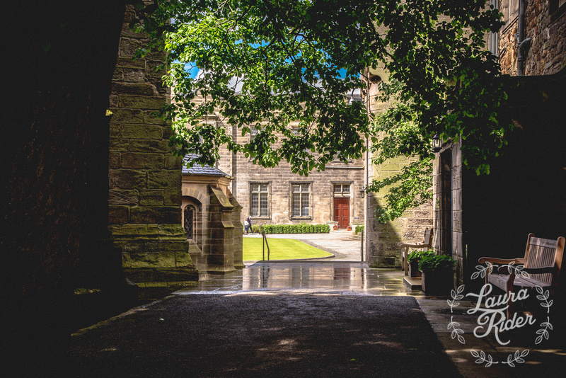 Peek into courtyard, University of St Andrews